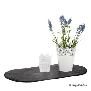 18_Tischband oval 40x20 cm Schiefer
