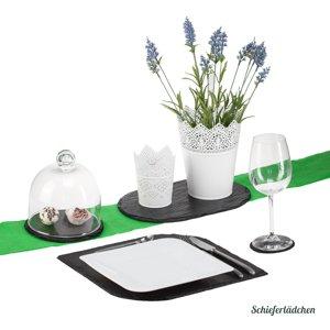 29_Tischset rund Schiefer 6 teilig Untersetzer Platzset